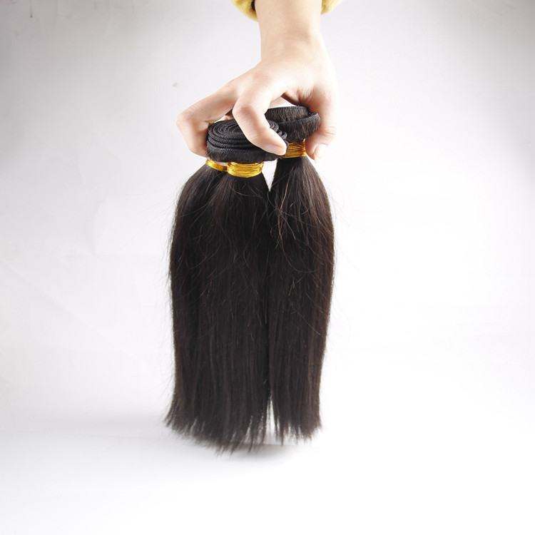 Wholesale 100% natural Silky Straight wave human hair weaving in stock
