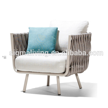 New arrival leisure way garden patio furniture single seater sofa chair