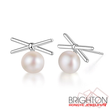 Elegant Freshwater Pearl 925 Sterling Silver Earring Jewelry For Girls 2-Y1383-6800