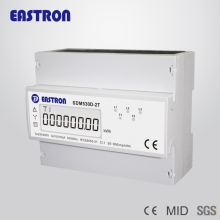 2 Tariffs three phase energy meter 0.5~10(100)A 3p4w kilo watt hour meter double tariffs