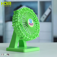 Cheap And Fine Green Ferris Wheel Shaped Powerful Usb Fan For Student