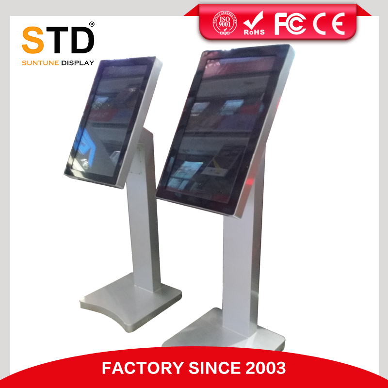 Indoor 22 inch standing lcd ad player