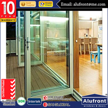 commercial Residential House with WERS modern french door storm doors with with venetian blinds