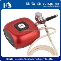 HS08-6AC-SK beauty machine Beginner's Airbrush Kit Single Action Spray & Air Compressor Hobby Art Paint Set