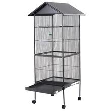 Large Steel Bird Cage with Roof and Food bowl