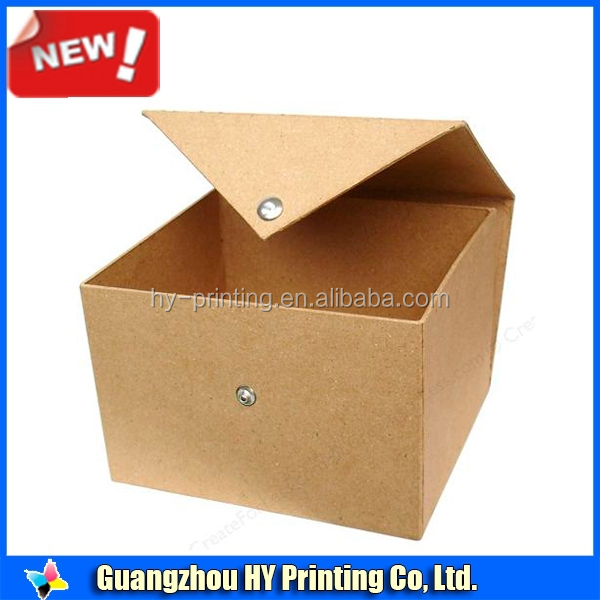 Plain brown color coffee mug box gift packaging boxes