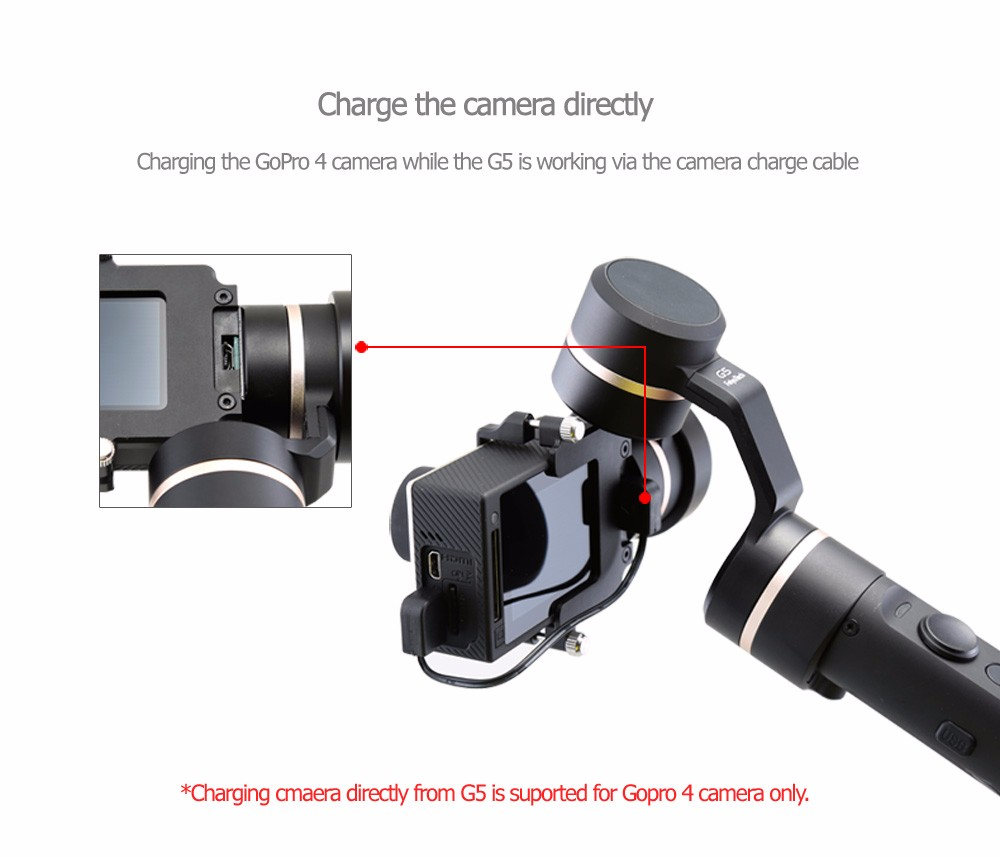 3 Axis gimbal handheld gimble FeiyuTech G5 camera stabilizer Steady Camera Gimbal for go pro Her o3+ 4 Xiao mi aee work with APP