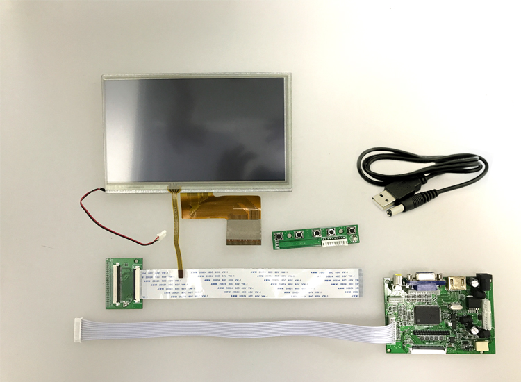 7 inch raspberry pi display with HDMI/VGA lcd Controller Board