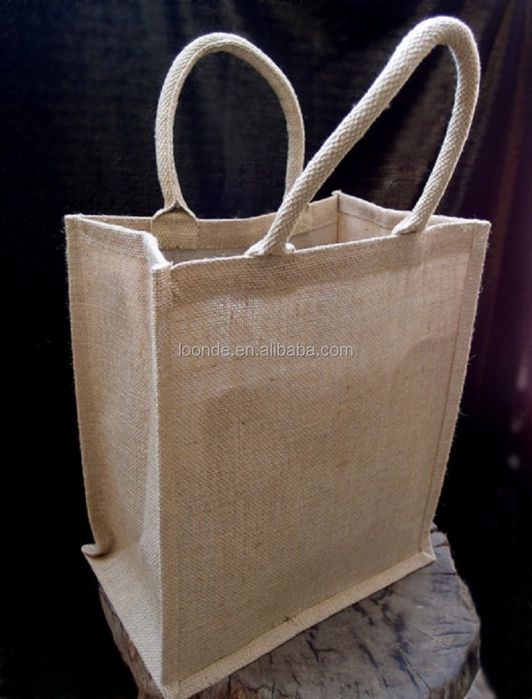 nature jute Wine Gift Tote Bag custom Wine Carrier Holder