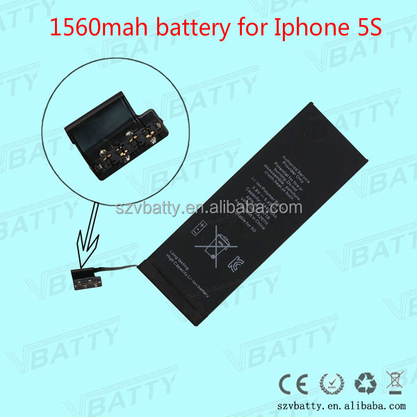 rechargeable Replacement 1560mah for iPhone 5S Original Internal OEM Battery