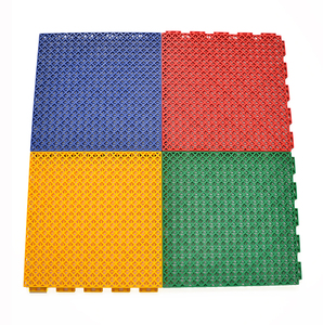 Wholesale durable outdoor pp portable volleyball court flooring mat, multi purpose pp interlocking floor tile