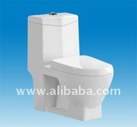 Siphonic one piece bathroom vanity toilet K-1606 from factory