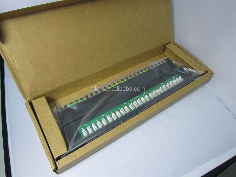 25 Port Cat3 RJ11 Telephone Patch Panel with Cable Management