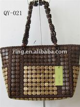 Coconut shell shoulder tote Bag