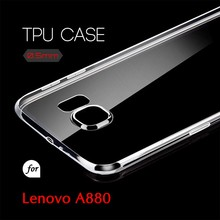 0.5mm Ultra Thin TPU Transparent Clear Protective Case for Lenovo A880