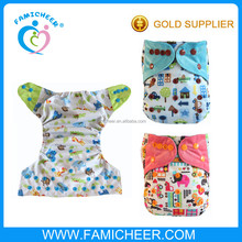 Famicheer holiday print aio minky cloth baby washable diaper