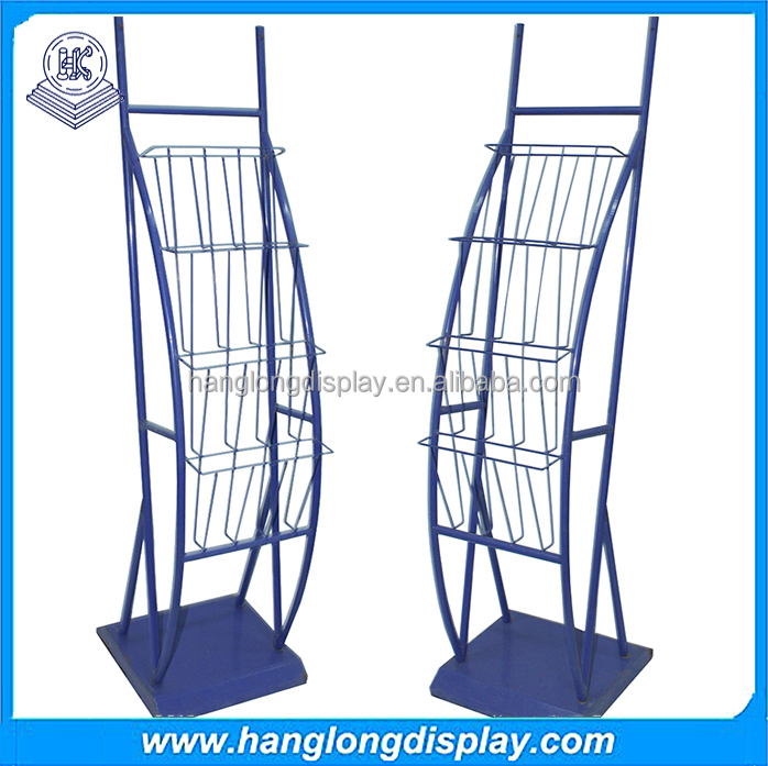 Metal wire used retail outdoor Magazine & Newspaper Racks