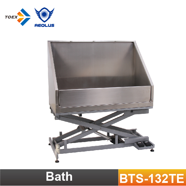 BTS-132TE Stainless Steel Electric Lifting Pet Grooming Tubs Bathtub for Dogs