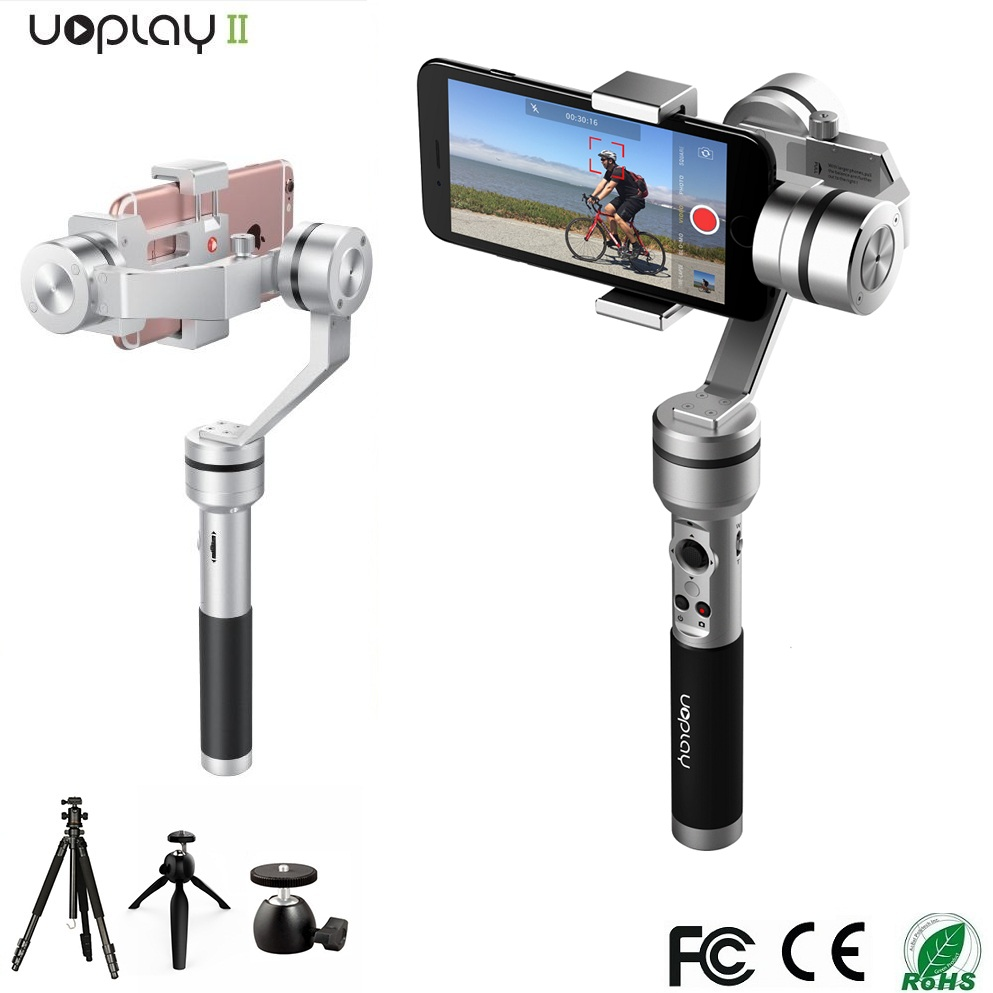 AIBIRD Uoplay 3 Axis gimbal stabilizer mobile phone sport camera stabilizer with smart App