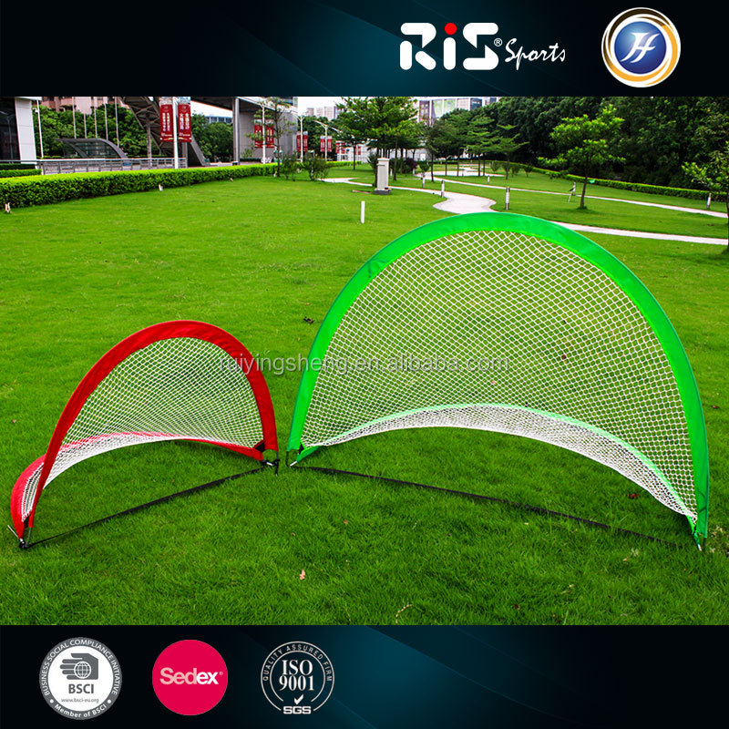 Portable Twins Pop-up Soccer Goal with fiberglass for training