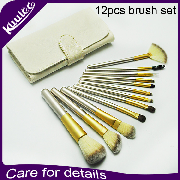 High Quality Fashion Professional Snythetic Hair 12Pcs Cosmetic Makeup Brush Kit