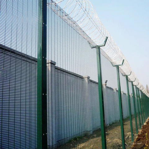 358 High Security Fence with Barbed Wire, 358 Anti Cut Fence