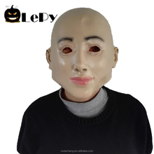 Masquerade Crossdress Costume Adult Female face Mask Full Girl Head Latex Sexy Mask