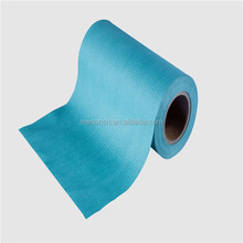spunlace nonwoven cleaning wipe fabric rolls for industrial wash cloth