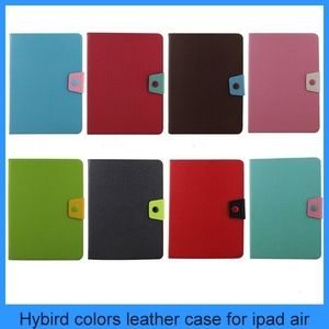For iPad Air 5 Blue Magnetic Hybrid Leather Folio Smart Case Cover Apple iPad Air Case