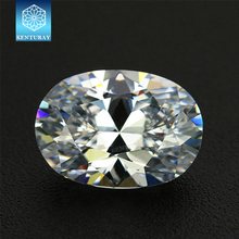 Lab Created Diamond Cubic Zirconia Oval Cut CZ Loose Synthetic CZ Stone For Fashion Jewelry