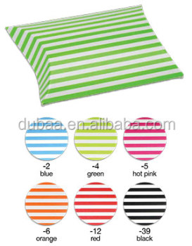 Gift Box for Jewelry,Striped Paper Puff Pouch