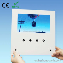 "high-end and creative 10.1"" sex lcd video greeting card,lcd brochure holder display stand"