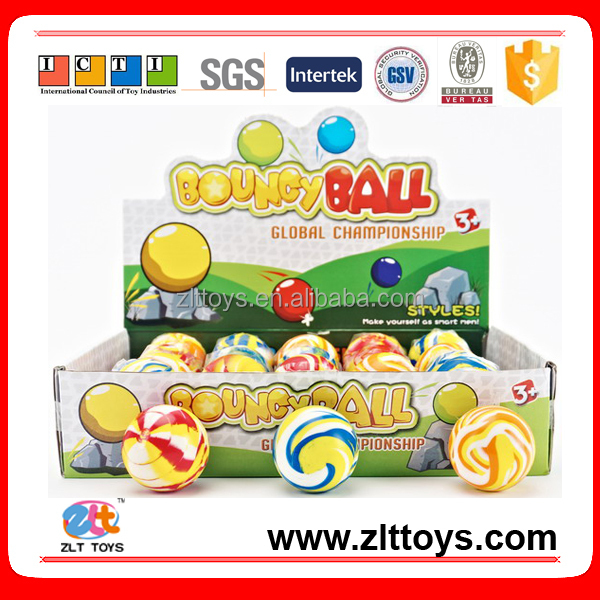 Colorful Bouncy ball,45mm Rubber Bouncy ball Toy