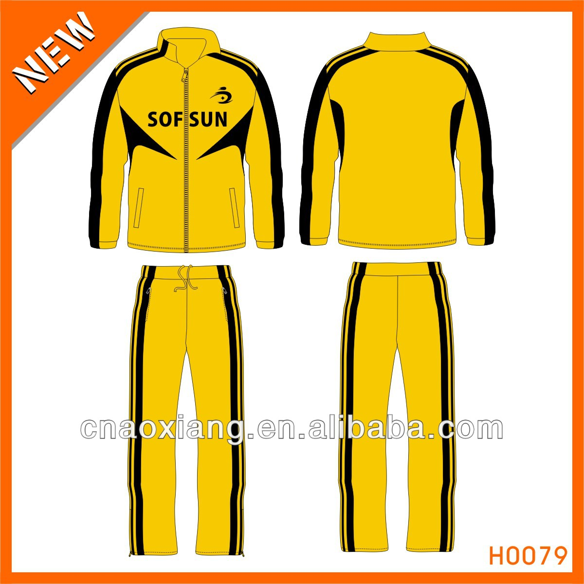 Guangzhou wholesales warm up track suit