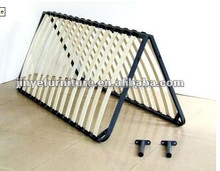 Folding bed frame with poplar bed slat