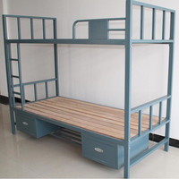 metal material bedroom furniture military bunk bed