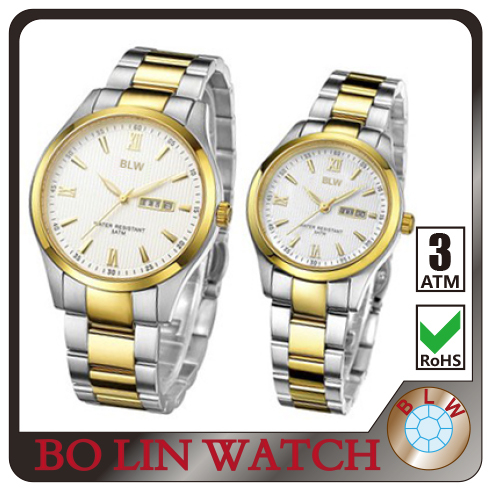 316L stainless stee couple quartz watch high quality