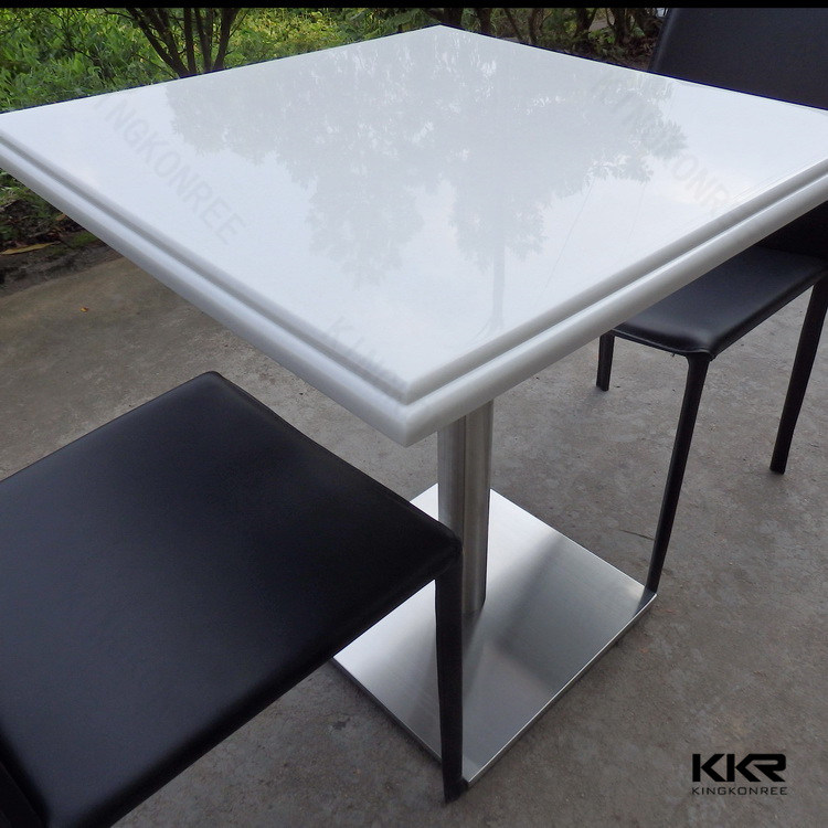 Small round dining table set , luxury marble dining table and chair