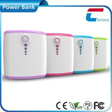 Dual usb colorful indicator cute design portable charger, powerbank 12000mah portable usb charger, portable phone charger