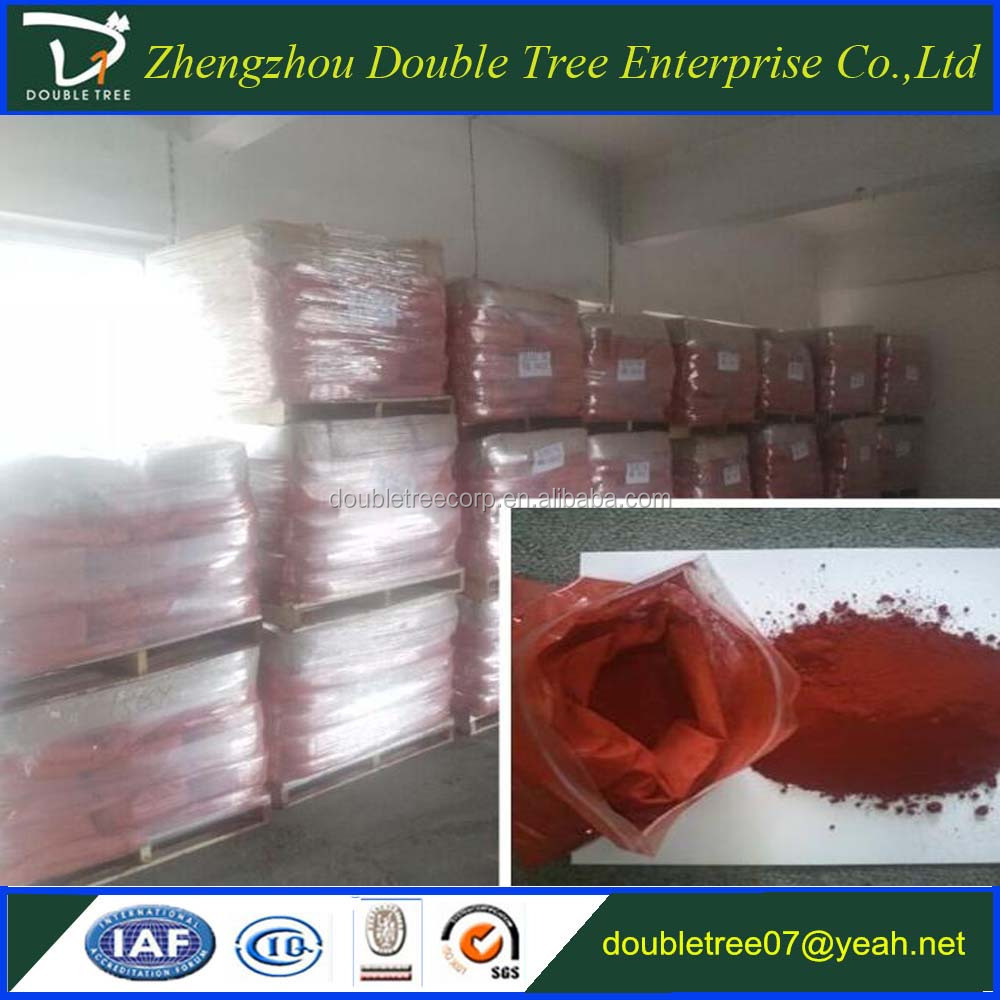 colorful iron oxide red powder used for coloring of construction, paints, plastic rubber, printing ink