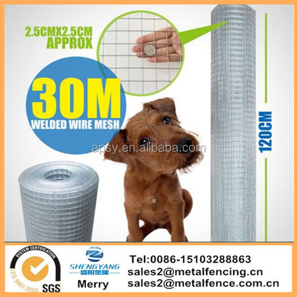 20/30M Wire Mesh Aviary Fence Chicken Rabbit Welded Garden Galvanised fencing