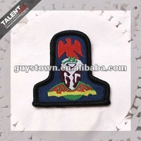 custom eagle embroidery label decoration badge for uniform garment
