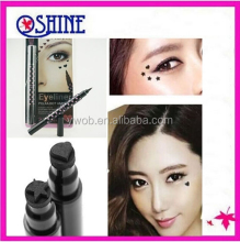 New Black Waterproof Liquid Eyeliner Star Heart Tattoo Pencil Double Sided