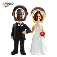 OEM dashboard bobble head couple wedding bobble head WITH photo frame