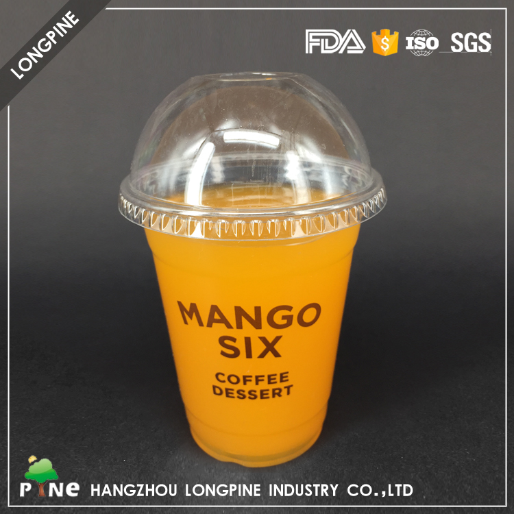 Biodegradable Reusable coffee Bubble Tea Heat Resistance Hard Plastic Cup
