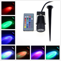 3W Remote RGB In-Ground Lights LED Outdoor Ground Garden Path Floor Underground Buried Yard Lamp Spot Landscape Light Waterproof