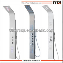 Stainless steel LED shower panel