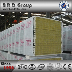 fibreglass sandwich panel ppgi rockwool structural insulated panel