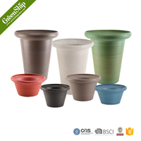 Large Colorful Fiber Clay Flower Pots