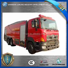for city building fire and house fire, water tank LHD water fire truck with HINO 6X4 chassis